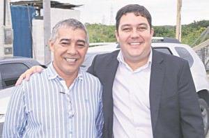 Fundador do Tempo Novo. Eci Scardini com o vereador e deputado estadual eleito Bruno Lamas (PSB), proponente da sessão solene