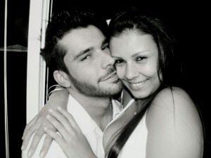 O casal Tati e Kadu no clique do fotógrafo italino.
