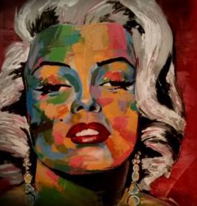 O rosto de Marilyn Monroe é uma obras que estarão expostas no local. Foto: Divulgação