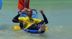 Carlos Kill ganhou no último final de semana o Campeonato Nacional de Surf Adaptado, no Rio de Janeiro. Foto: Divulgação