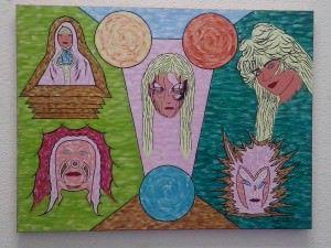 Um dos quadros de Simonia Boldrini que estarão em exposição na igreja de Reis Magos. Foto: Divulgação