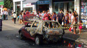 Casos de incêndios em veículos são comuns como este na rodovia Norte Sul / Laranjeiras em 2013. Foto: Bruno Lyra
