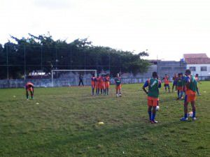 O Gel está treinando em Carapebus, no campo do Tiradentes. Foto: Divulgação