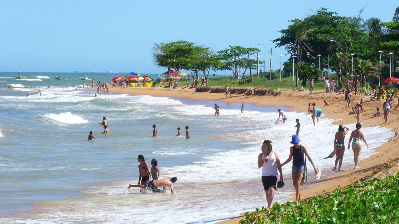 Praia de Manguinhos: No balneário o serviço está disponível próximo à praça central. Foto: Bruno Lyra