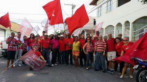 Grupo reunido pouco antes de partir para o processo em Vitória. Foto: Divulgação
