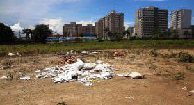 O local virou ponto viciado de lixo. Foto Fábio Barcelos
