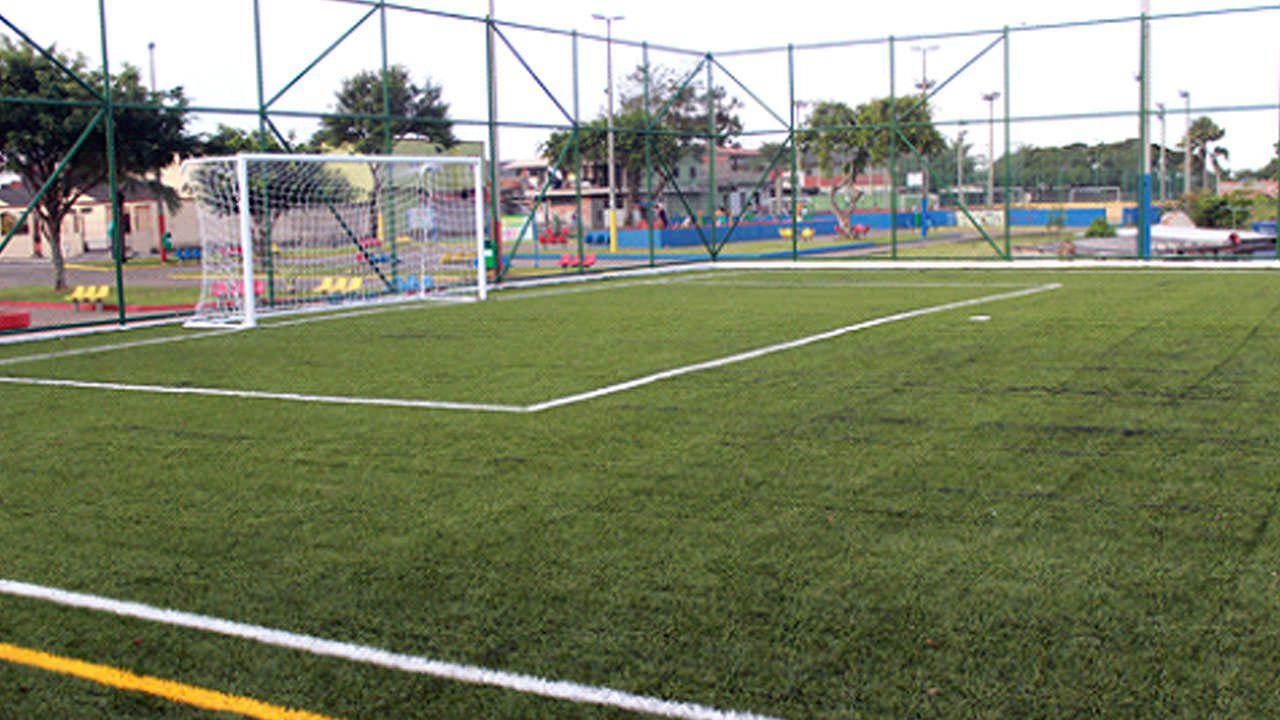 Outras comunidades da Serra ganharão campos como este. Foto: Divulgação PMS