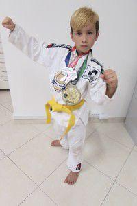 Pedro Henrique Lucas Covre, 8 anos é uma das promessas da Serra no festival. Foto: Fábio Barcelos