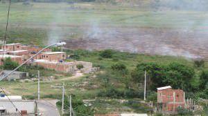 Os moradores do bairro José de Anchieta II estão entre os mais afetados como mostra esta imagem do dia 23 de fevereiro. Foto: Bruno Lyra