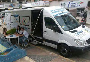 A Unidade Móvel do Sindmicro ficará até quinta-feira (12) para atender os comerciantes e empreendedores da região. Foto: Divulgação