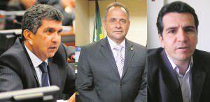 Sérgio Vidigal e Carlos Manato votaram a favor do projeto enguanto o petista Givaldo votou contra. Foto: Divulgação