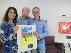 Paciente expõe obras de arte em hospital da Serra
