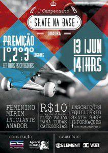 Banner de informações do 1º Skate na Base que acontecerá na Serra. Foto: Divulgação
