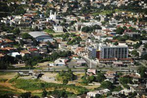 Vista aérea da Serra-sede