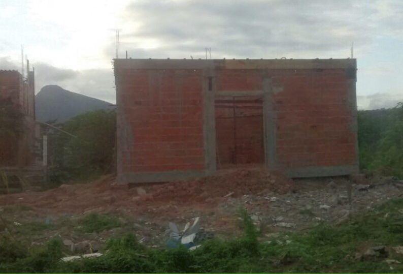 Construção da Igreja Batista demolida pela Prefeitura por estar em área de preservação e de risco. Foto: Divulgação