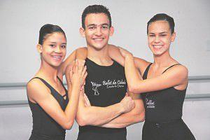 Os bailarinos serranos Thaynara, Adson e Jhenifer irão para Brasília participar do Seminário Internacional de Dança. Foto: Edson Reis