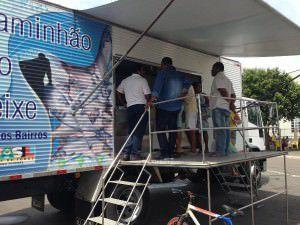 O caminhão do peixe fica todas as sextas em José de Anchieta. Foto: Divulgação