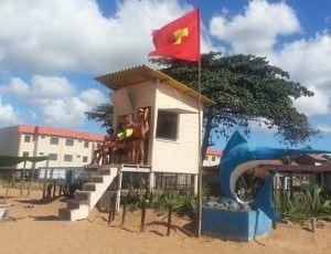 A estrutura já está servindo para auxiliar o monitoramento dos banhistas. Foto: Divulgação / Anderson Soares