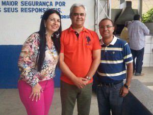 A presidente da Câmara da Serra, Neidia Maura; o presidente estadual do PSD, José Carlos da Fonseca Júnior; e o presidente municipal, Flávio Serri. Foto: Divulgação
