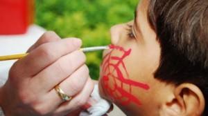 Pintura de rosto é uma das atividades que serão oferecidas. Foto: Divulgação