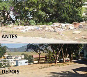 A limpeza começou na limpeza da tarde desta terça-feira (23). Foto: Divulgação