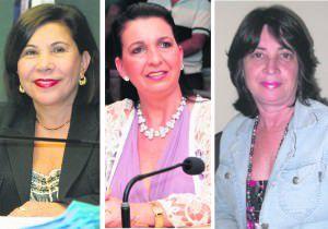a deputada Luzia Toledo, a presidente da Câmara Neidia e a vice-prefeita Lourência dizem que ainda há dificuldades para as mulheres