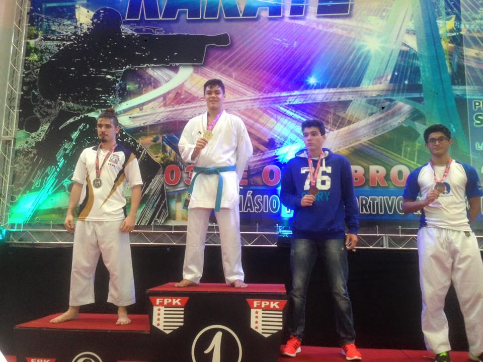 Bruno conseguiu dois ouros na competição em São Paulo. Foto: Divulgação