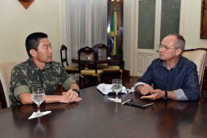 A chegada do Exército foi confirmada em reunião nesta sexta-feira (13), entre Paulo Hartung e o coronel Edson Massayuki. Foto: Divulgação