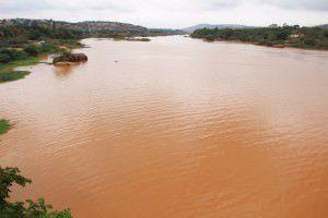 Aspecto do rio Doce na tarde de ontem (18) em Baixo Guandu. Foto: Divulgação/Prefeitura de Baixo Guandu