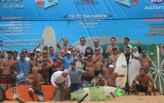 O campeonato reuniu uma galera das antigas do surf serrano e estadual. Foto: Divulgação