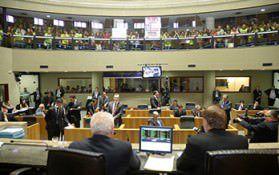 Servidores do Judiciário lotaram as galerias da Assembleia Legislativa para acompanhar a votação sobre projetos que impactam o funcionalismo. Foto: Divulgação
