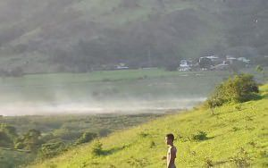 Fumaça vista da região entre Laranjeiras Velha e Pitanga na última sexta-feira (18). Foto: Bruno Lyra
