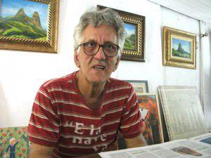 Kléber é pintor, restaurador de quadros e também um dos principais intelectuais do ES. Foto: Arquivo TN/Bruno Lyra