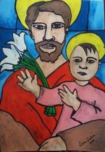 Um dos itens que estarão expostos é da artista Licia Dalcin: aquarela e acrílica sobre cartão. Foto: Divulgação