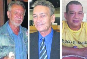 Pré-candidatos Sérgio Peixoto, Pedro Paulo e Aloisio Santana. Foto: Divulgação