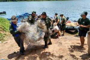 O pescado foi doado para uma instituição beneficente. Foto: Divulgação