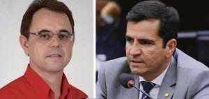cleber Lanes e Givaldo Vieira acreditam que Vidigal possa mudar o voto. Fotos: Divulgação