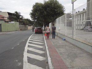 A rua da igreja Batista é uma das que tem assaltos com frequência, a última ocorrência aconteceu na segunda-feira (23). Foto: Fábio Barcelos