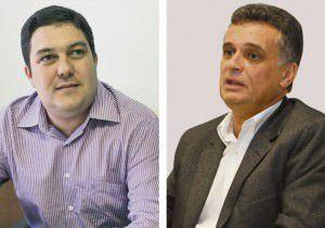 Bruno e Audifax, principais lideranças do PSB e da Rede na Serra: indicação do vice na chapa do prefeito para reeleição depende de acordo na proporcional. Foto: Arquivo TN