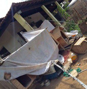 Situação de um dos espaços do sítio onde fica o Auau Carente. Foto: Reprodução Facebook