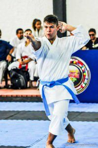 Bruno Conde é o sexto melhor karateca do mundo na categoria Kata Junior. A foto é de Felipe Tamashiro
