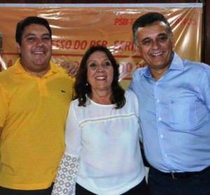 O deputado estadual Bruno Lamas (PSB) emplacou sua mãe, Márcia, como vice de Audifax. Foto: Divulgação