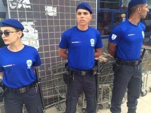 Os agentes da Guarda Municipal já estão nas ruas da Serra, em treinamento. Foto: Divulgação
