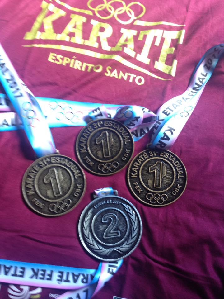 Bruno Conde termina Estadual de karate com sete ouros e uma prata
