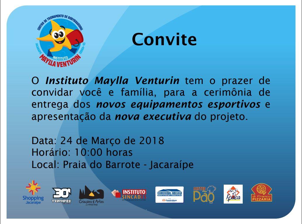Instituto Maylla Venturin recebe doações neste sábado em Jacaraípe