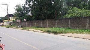 Morador reclama de mato em calçada de Jacaraípe