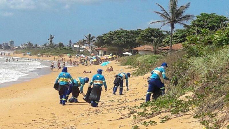 Prefeitura vai fazer força-tarefa para limpar praias da Serra