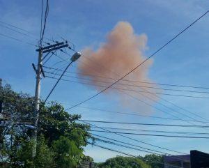 Fumaça rosa na ArcelorMittal assusta morador de Carapebus