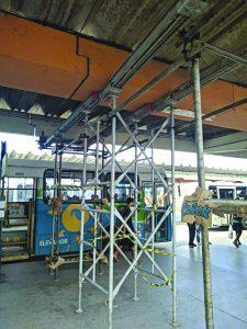 Ceturb escora teto do Terminal de Carapina, mas diz que não há risco de cair