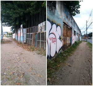 Muros podem desabar a qualquer momento na Norte-Sul, alerta morador